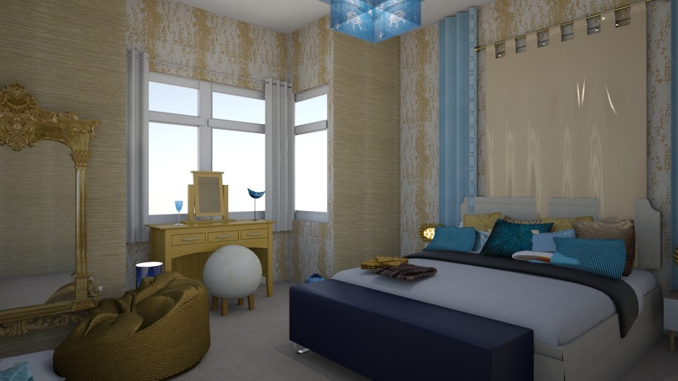 Golden Moments - Bedroom - by Interiors by Elaine