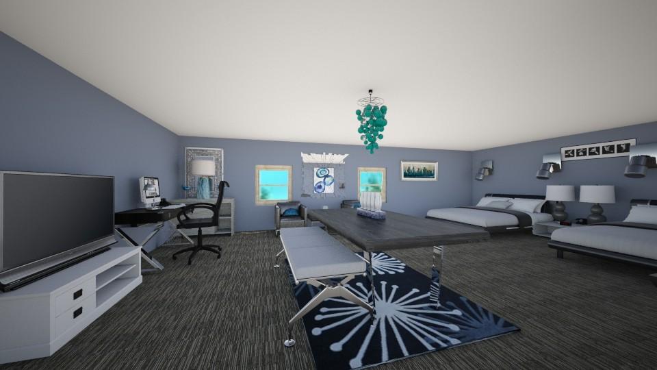 Homey Hotel Room - Modern - Bedroom - by elladesign
