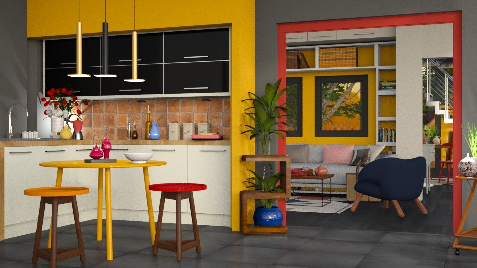 Colored 2 - Modern - Kitchen - by Gurns
