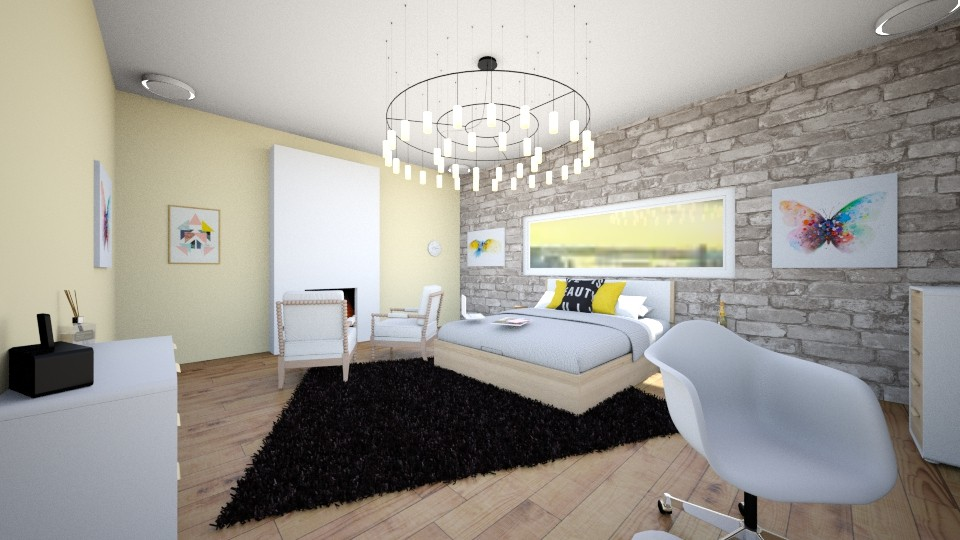 Artsy Bedroom - Modern - Bedroom - by molly_designs