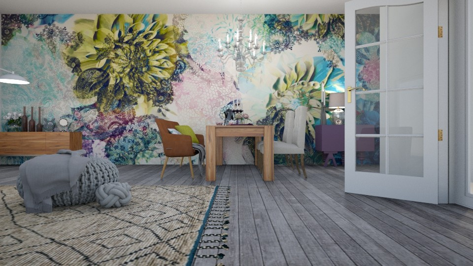 Floral Dinning Room - by tiara7