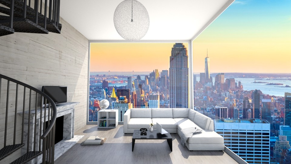 New York City Loft  - Modern - Living room  - by ansleymwhitaker