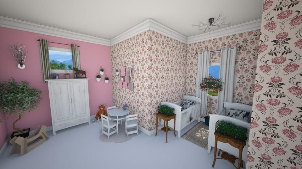 Twin girls room - Kids room - by Oftheyear18