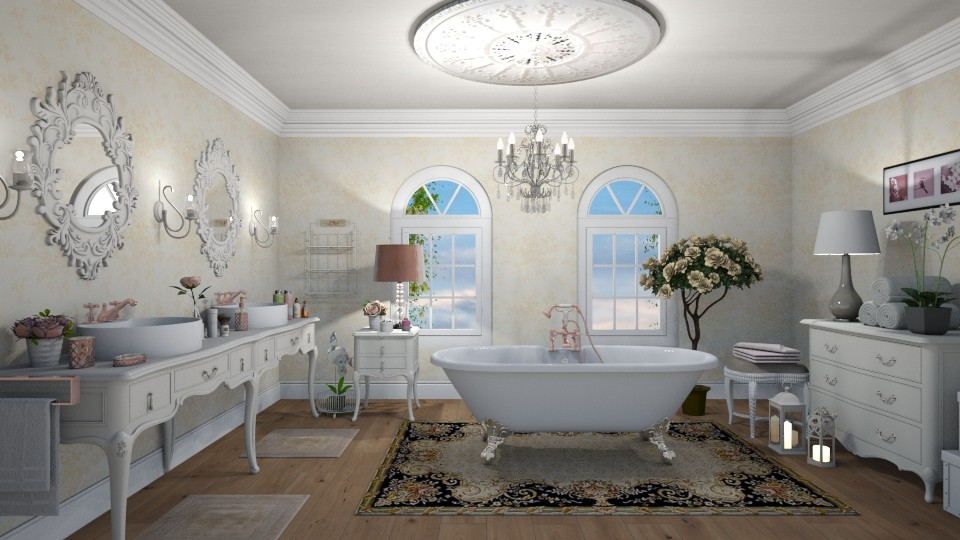 shabby bathroom - Bathroom - by mari mar