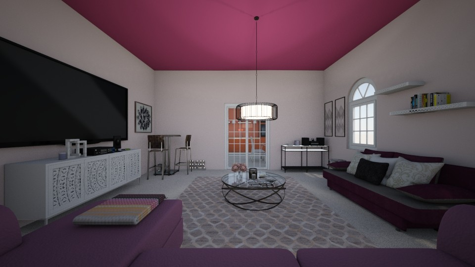 pink living  - Living room  - by crystalg98