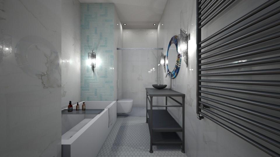 Small Bathroom Big Bath - Modern - Bathroom - by jaiden2006