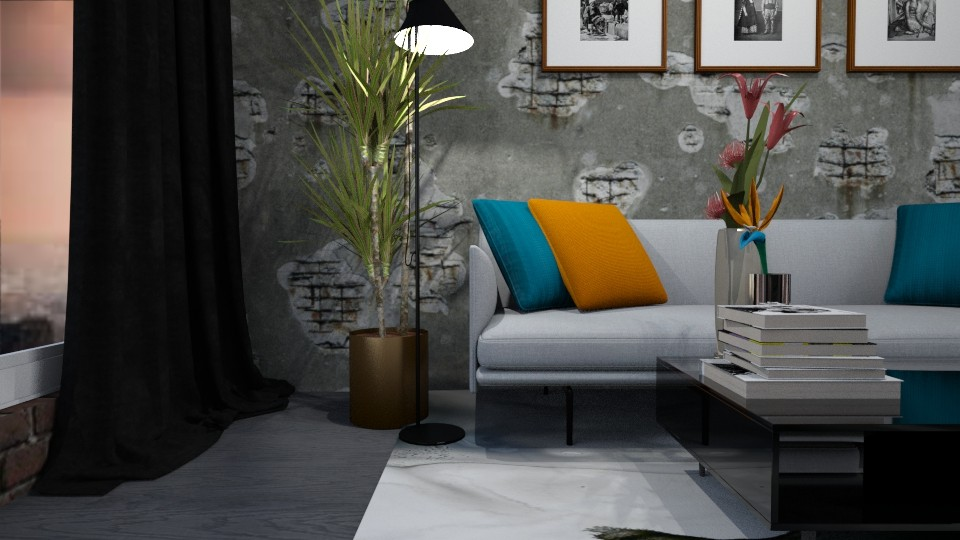 Industrial Living Room - Living room - by LucasMucus
