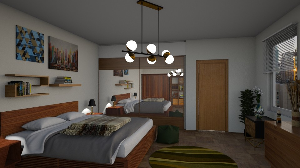Mid century bedroom - Modern - Bedroom - by petersohn