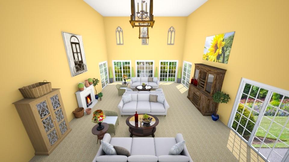 Tuscan Living Room - by talialodaya