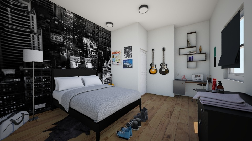 Teen Boy Room - Bedroom - by Laken Barnett
