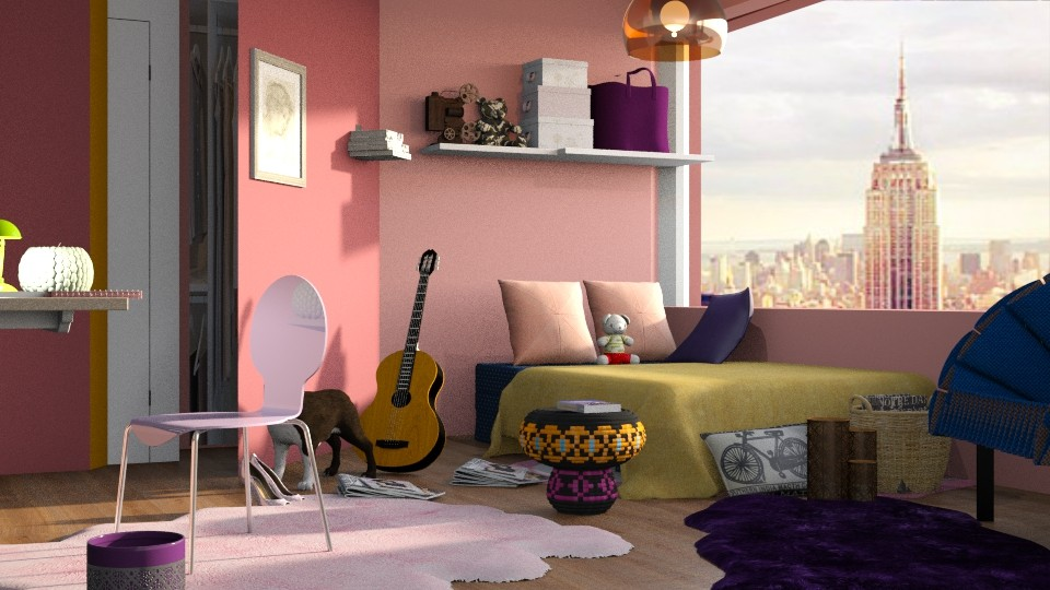 Colorful Bedroom - Bedroom - by elephant in savanna