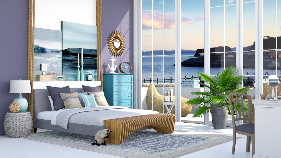 Coastal bedroom - Bedroom - by jagwas