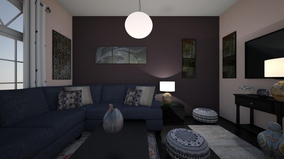 Purple shades - Living room - by Ana Angela