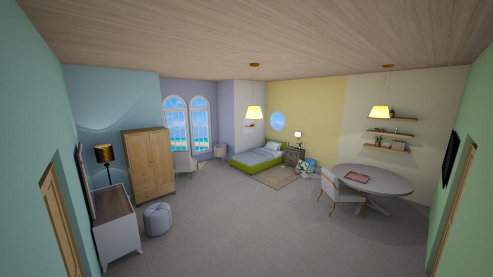Creme hotel room - Minimal - by majatheB