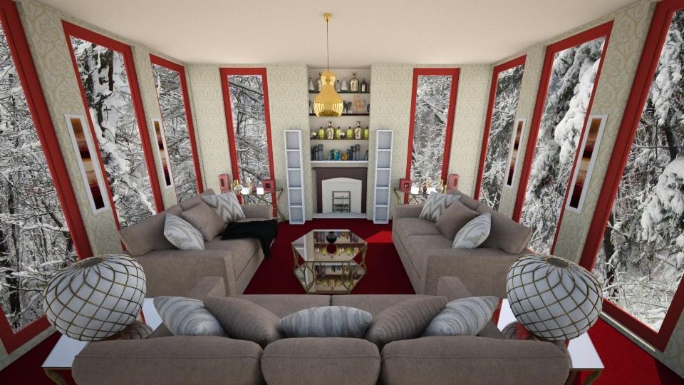 winter wonderland - Living room - by cdenton041793