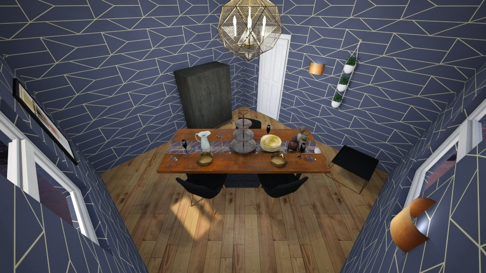 Geometric - Rustic - Living room  - by majatheB