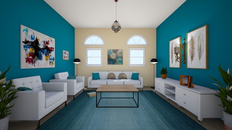 tURQUOISE - Living room - by Lori Hallman Douglas_763