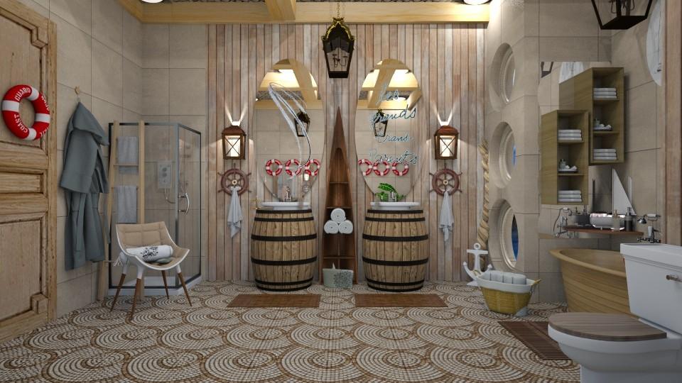 nautical bathroom - by nat mi
