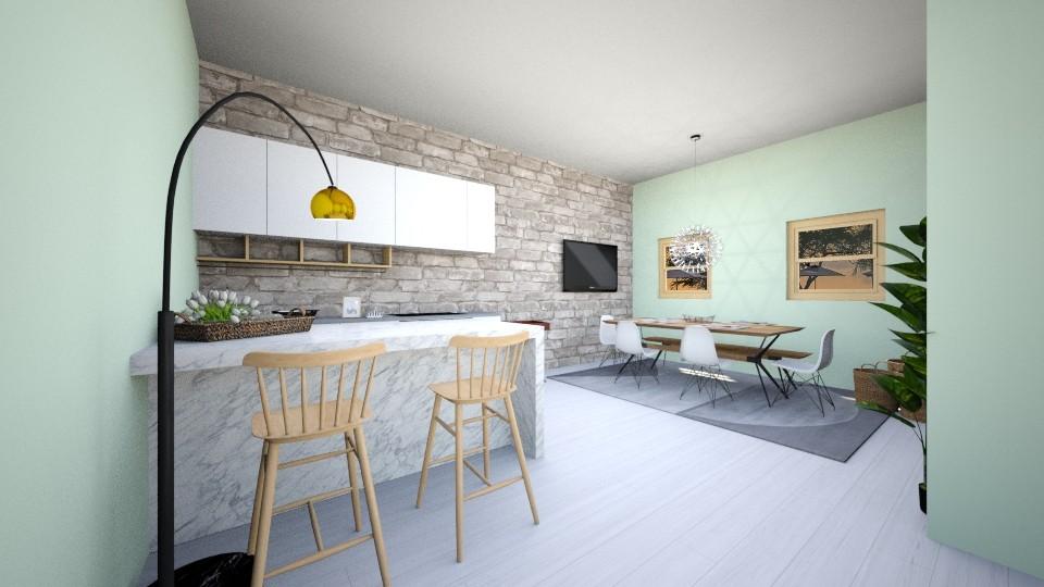 modern kitchen - Modern - Kitchen - by candycaneame