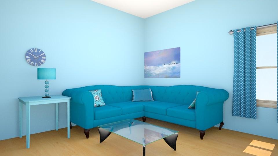 Blue Living Room - Modern - Living room - by Winner168