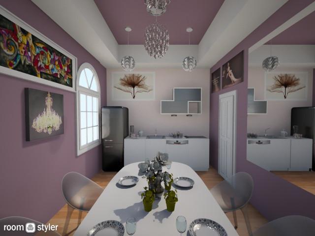 The purple kitchen  - Glamour - Kitchen - by Anliz