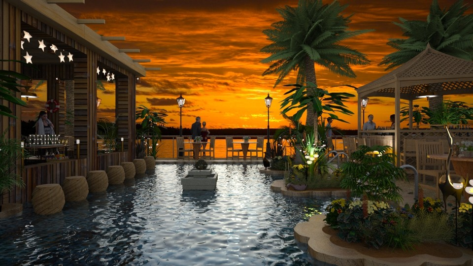 Design 436 Tropical Pool Bar - Garden - by Daisy320