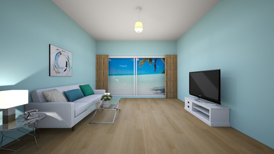 Beach House - Living room - by Isabella Schwarz