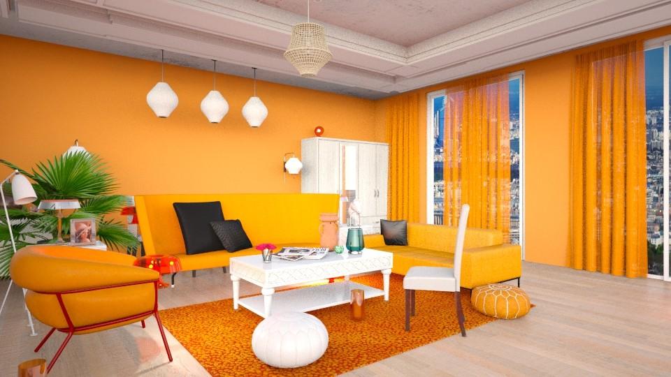 Oranje - Living room - by kolibrie_designer
