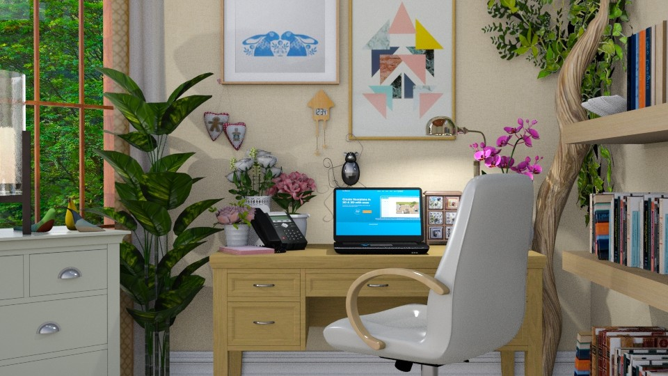EC home office2 - Eclectic - Office - by donella