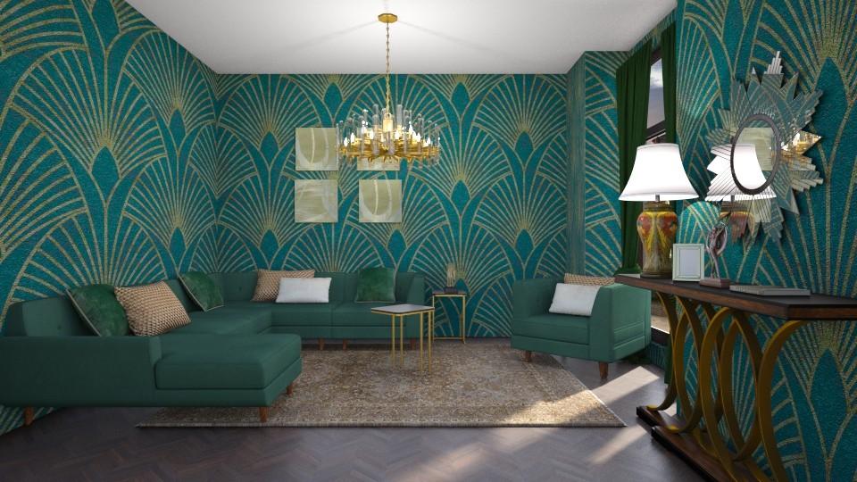 art deco green - by mollysamuel