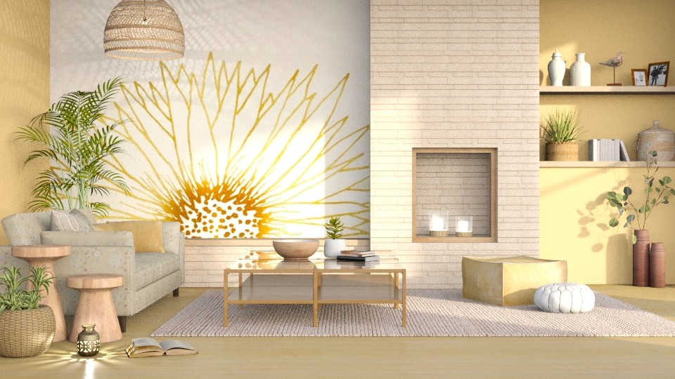 Sunflower - Living room - by LB1981