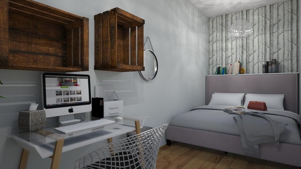 cramped bedroom - by monikaskawinska
