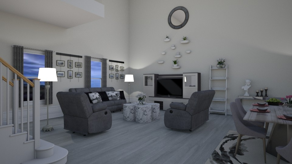 Grey Living - Living room - by Tzed Design