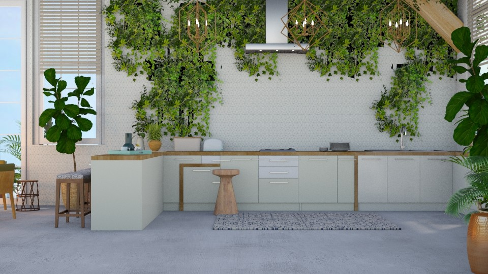 Urban Jungle Kitchen  - Modern - Kitchen - by NEVERQUITDESIGNIT