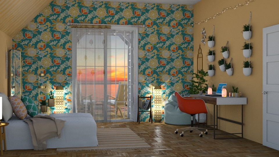 Malibu Teen - Bedroom - by elle rose