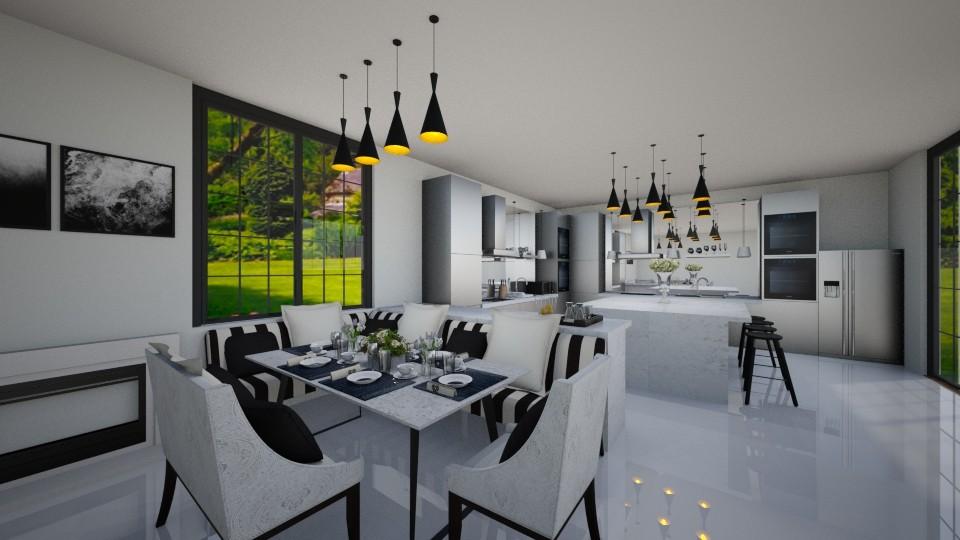 breakfast nook - Modern - Kitchen - by sekar kinasih