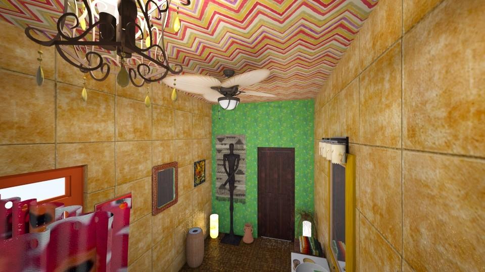 african bath - Rustic - Bathroom - by vassilianna