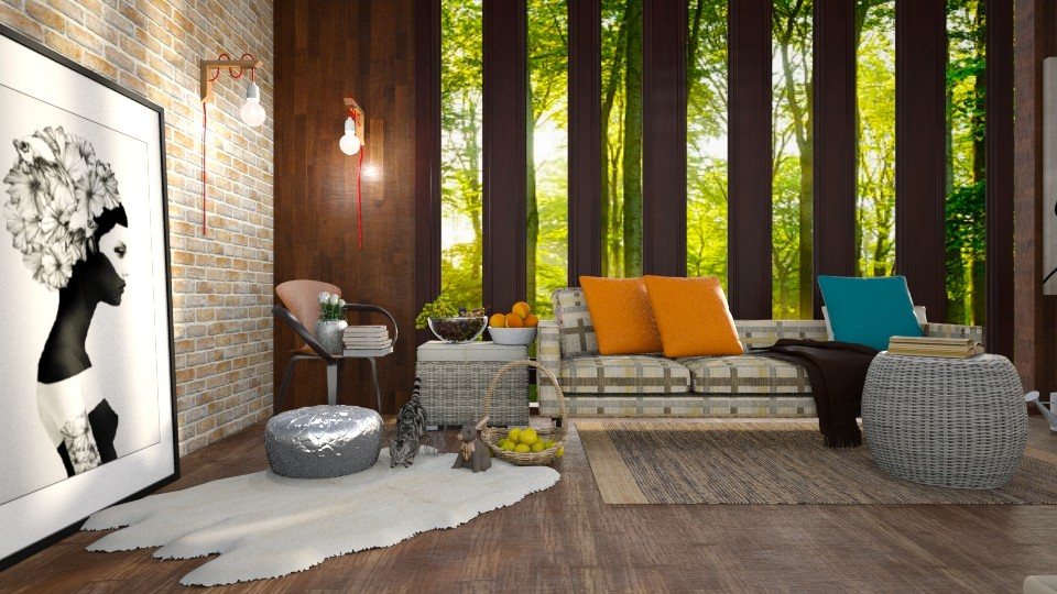 Forest and lumiere - Living room - by elephant in savanna