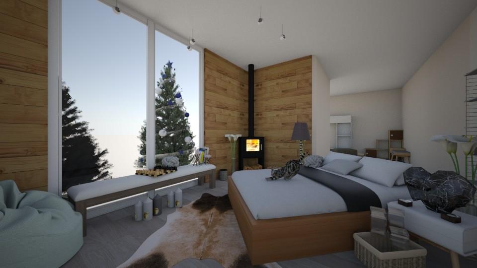cozy loghouse - Bedroom - by Karmelitam