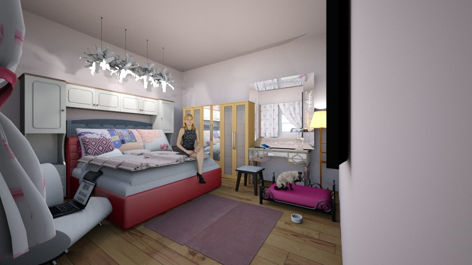ugly to beauty 2 - Feminine - Bedroom - by pigsfordays