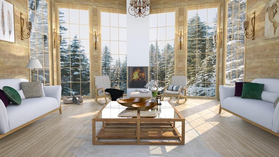 wood - Living room - by Ebru Tekneci