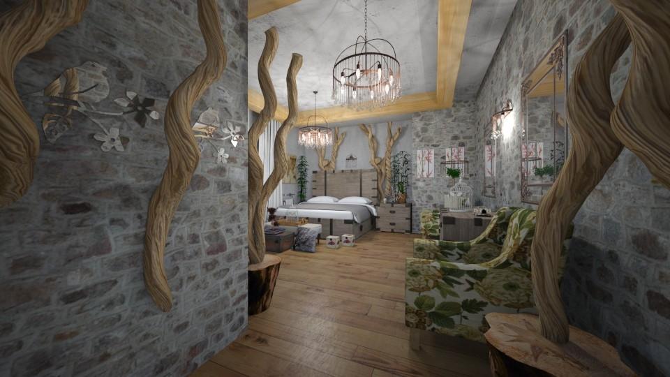 Tree s _Nature s Bedroom  - Vintage - Bedroom - by Nikos Tsokos