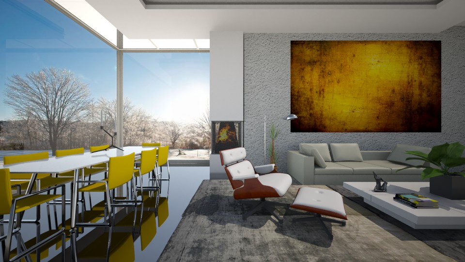 Sala de Jantar e Estar - Dining room - by Sanare Sousa