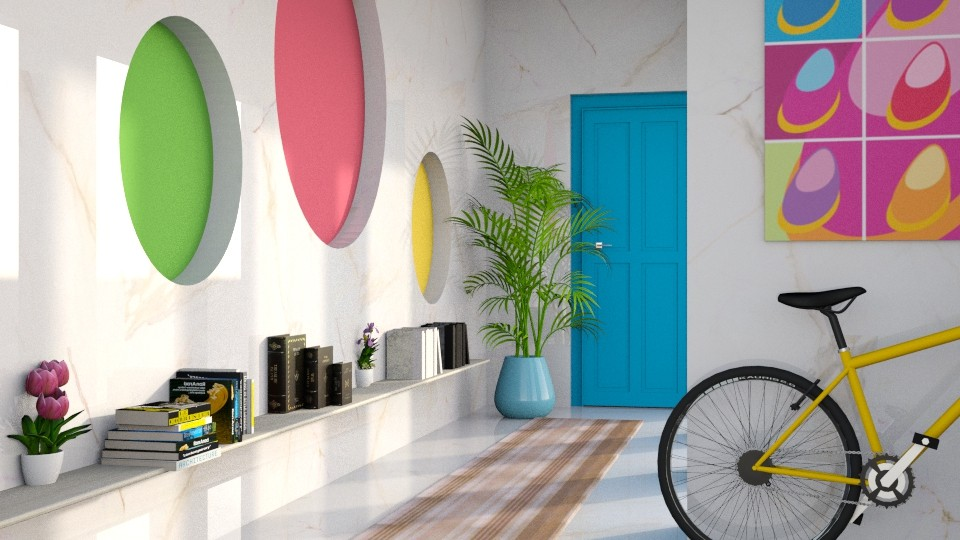 Modern Playful Hallway - Modern - by millerfam