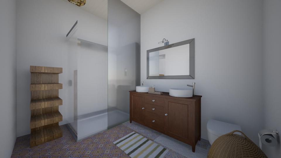 Bathroom view 2 Big room - Bathroom - by Masha Melnik