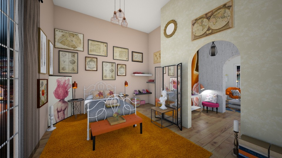 Pictures on the wall - Vintage - Bedroom - by anairdna