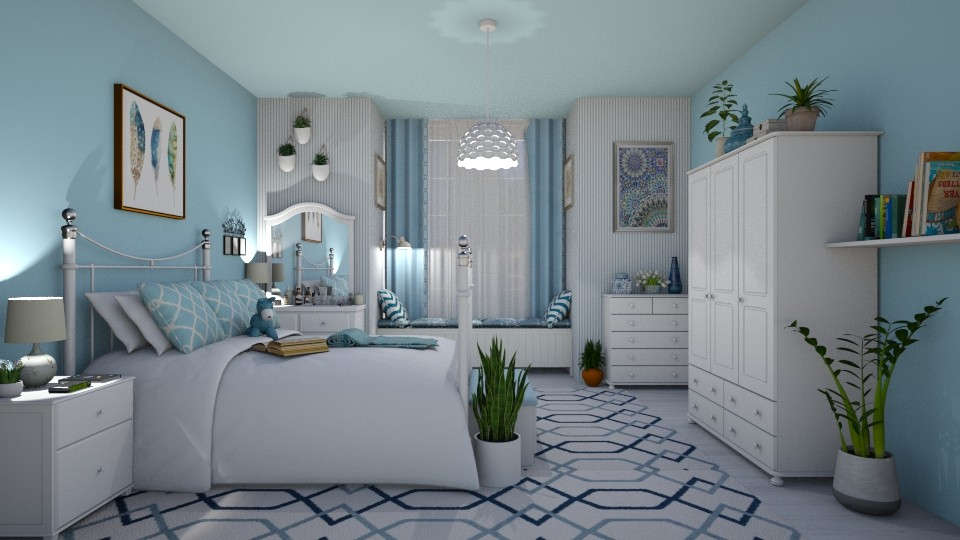 Blue evening - Bedroom - by Vicesz