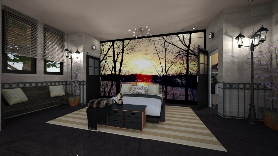 my photo mural bedroom - Bedroom - by kla