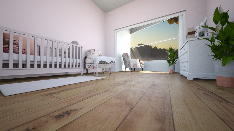 Pink Nursery - Kids room  - by TheONE_Rose