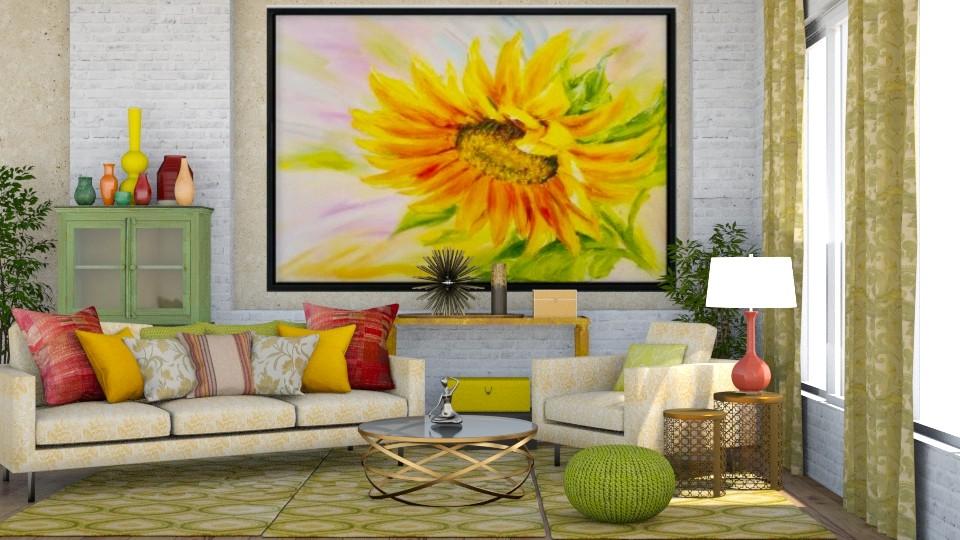 Sunflower Living Room - Living room - by jjp513
